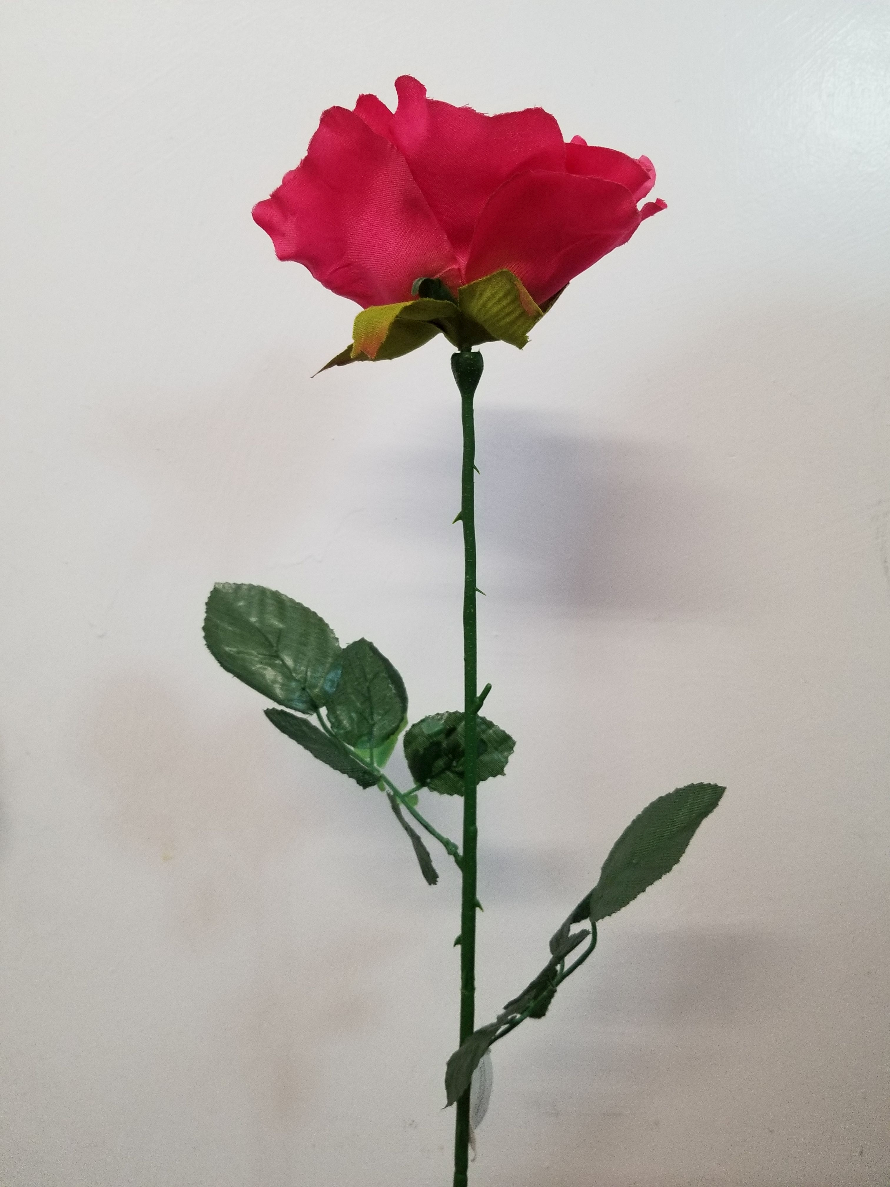New Single Giant Open Rose K7201w Ksw Wholesale Silk Flowers